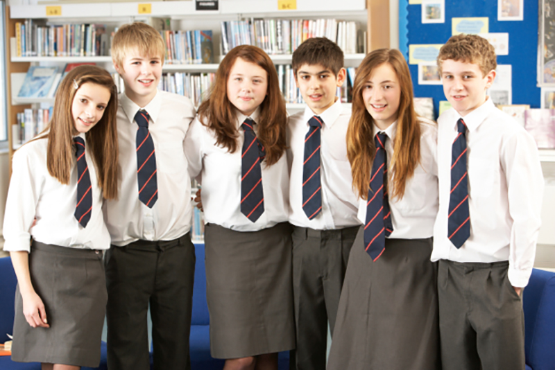 group of school pupils